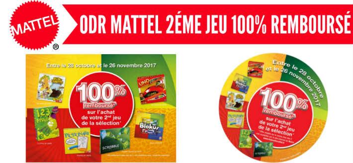 Offre-jeuxdesociete2017.e-odr.fr - Mattel 2eme jeu remboursé