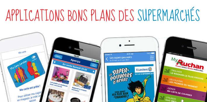 Application mobile bons plans avantages magasins et supermarchés