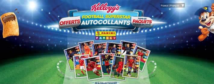 www.kelloggs.fr/superstars - Collection autocollants foot Kelloggs