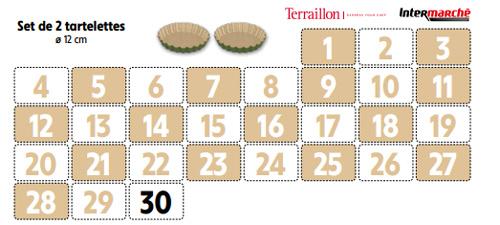 Collecteur vignettes Intermarché Terraillon moules à 2€