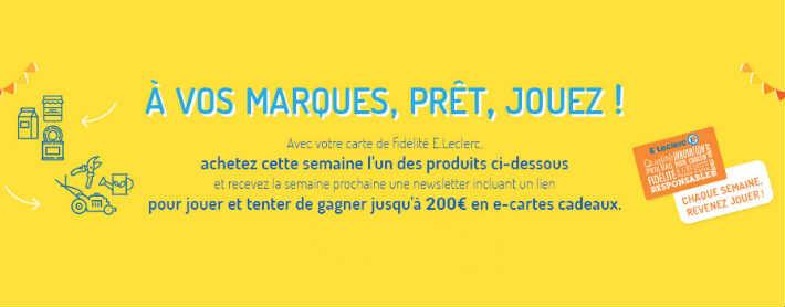 www.e.leclerc/jeu-marque - Grand jeu Leclerc marque partenaire
