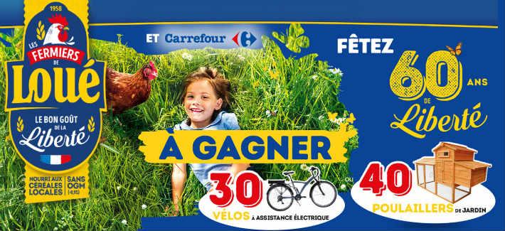 Grand jeu Loué 60 ans chez Carrefour - www.loue60anschezcarrefour.fr