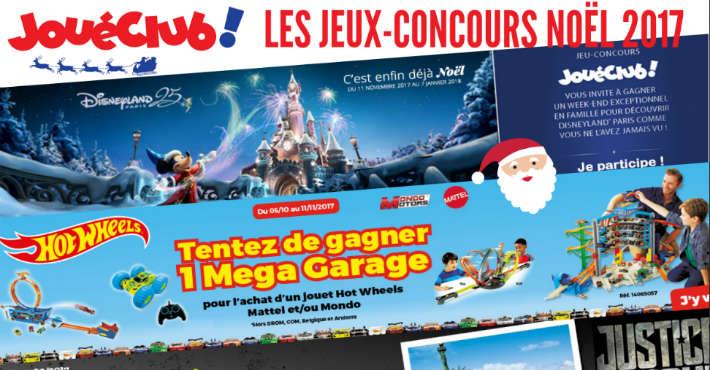Grand jeu concours catalogue jouet JoueClub Noël 2017 cadeaux à gagner