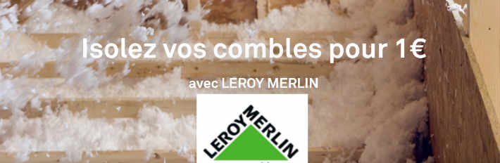 leroy merlin isolation combles perdus 1 euro. Black Bedroom Furniture Sets. Home Design Ideas