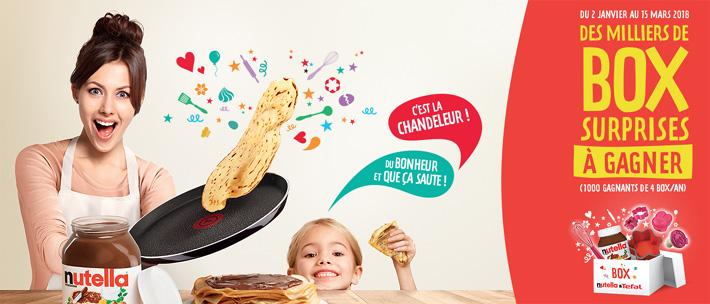 www.nutella-tefal.com - Remportez des bos surprises avec vos codes-barres