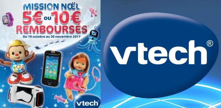 www.vtech-jouets.com promotion offre de remboursement Vtech Noël 2017