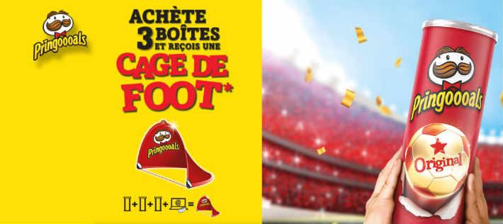 www.pringles.com - 3 codes une cage de football offerte par Pringles