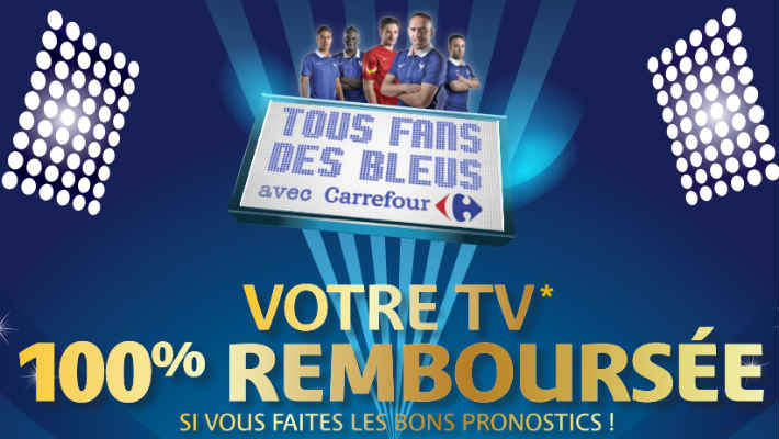 jeu carrefour pronostics tv 100 rembours e. Black Bedroom Furniture Sets. Home Design Ideas