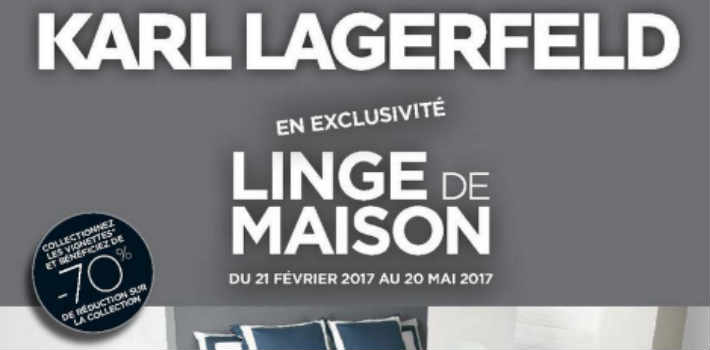vignettes karl lagerfeld leclerc linge maison. Black Bedroom Furniture Sets. Home Design Ideas
