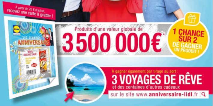 www.anniversaire-lidl.fr jeu code ticket caisse pour gagner des cadeaux
