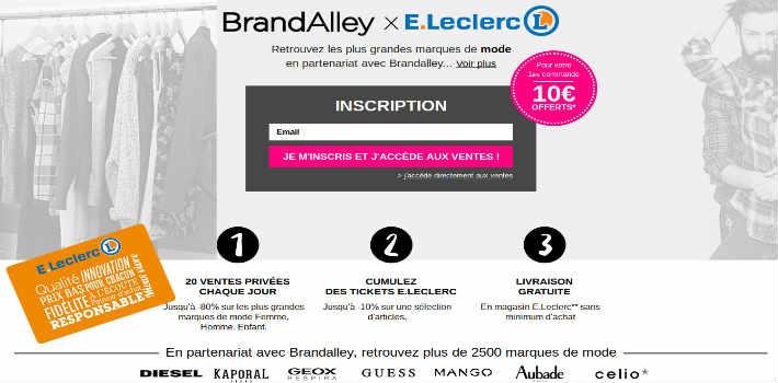 www.ventesprivees.leclerc Ventes privées E Leclerc Brandalley